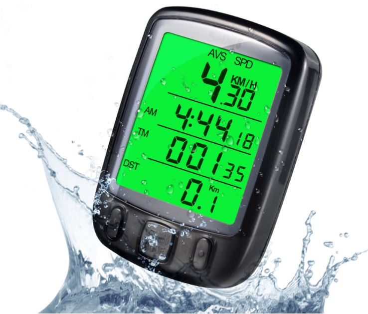 Sunding Speedometer LCD Display Waterproof